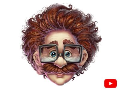Young Einstein  art illustration iamjoka character design tutorial process characters