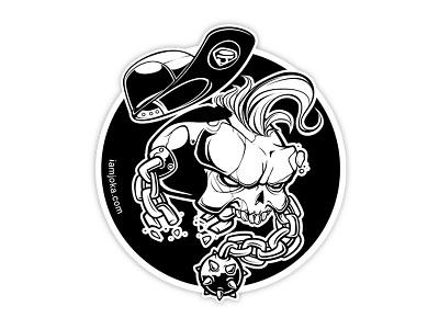Personal Sticker bone wacom sticker vector skull illustration art