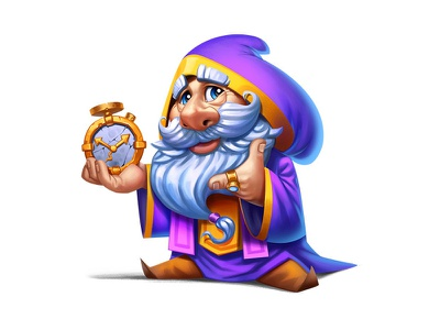 time keeper photoshop wacom 2d clock mage gameart playrix characters illustrations art