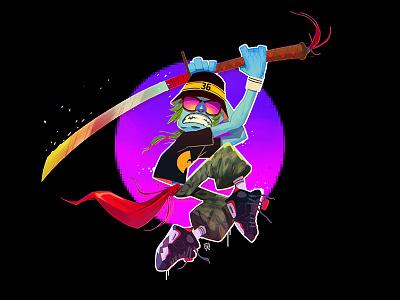 Samurai photoshop wawom 2d kicks jordan wu wu-tang samurai characters characterdesign illustration art