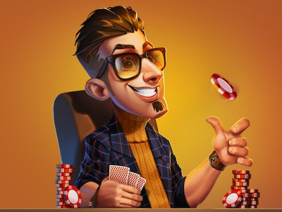 /// casino wacom photoshop illustration iamjoka characters characterdesign art 2d