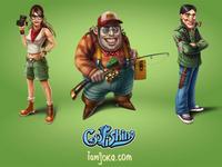 Go Fishing characters