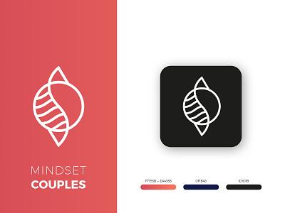 Logo for Mindset Couples vector combination mark symbol brand identity app icon mark graphic design branding logo