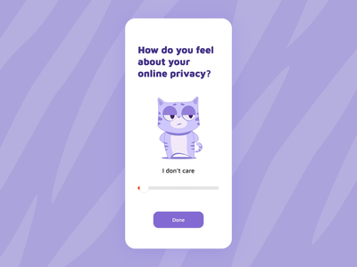 All you need is privacy and a cat 🐱 after effects slider design slider privacy cats cat characterdesign character animation aftereffects motiongraphics animation adobe actions productivity ipad iphone ios app documents readdle
