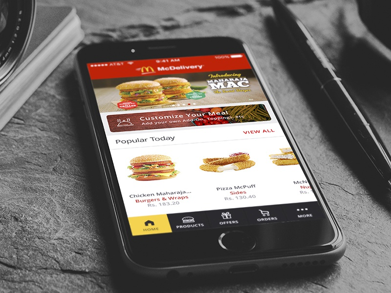 Mcdelivery Redesign Concept by Jeevan Lazarus | Dribbble | Dribbble