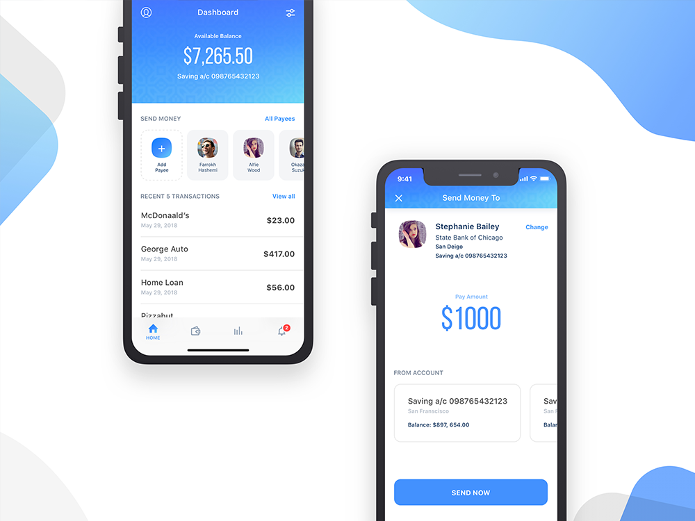 Banking - Send Money by Jeevan Lazarus on Dribbble