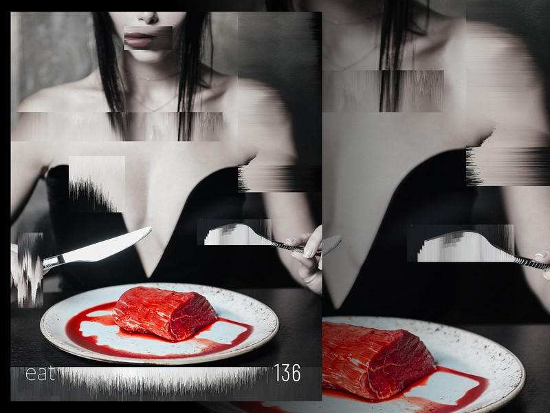 Eat photo manipulation distort datamosh retouching photo retouching type poster design adobe photoshop photoshop