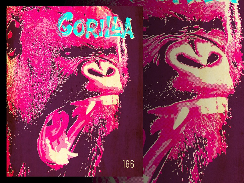 Gorilla poster design adobe photoshop photoshop