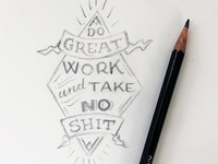 Do Great Work Sketch