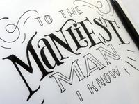 New Manliest Man Sketch