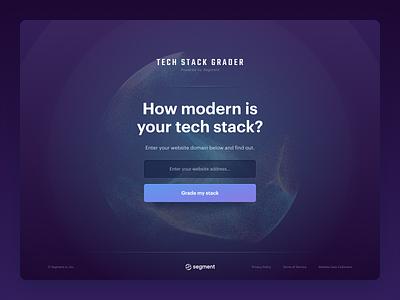 Segment — Tech Stack Grader tools landing segment score charts grading grader stack tech uiux ux visual website ui web