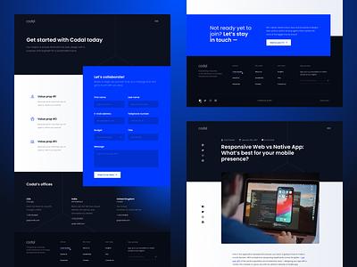 Codal — Website webdesign design web website ui ux ui elements visual clean lp