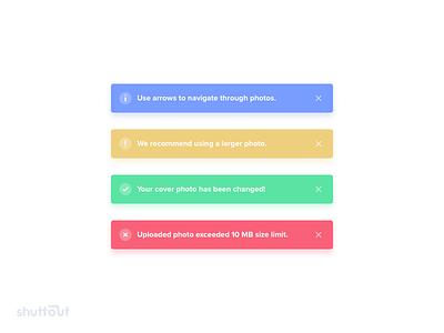 📸 Shuttout – Alerts shuttout ui clean web flat icon alert success error