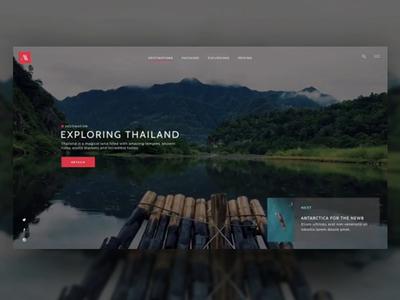 Explore Thailand - Built with Famous famous interaction animation