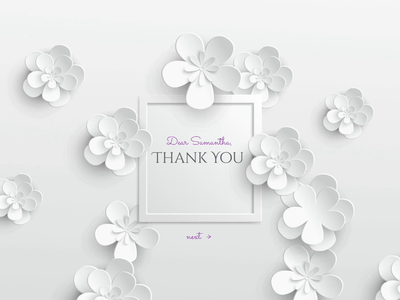 Interactive Greeting Card interaction animation flowers greeting card