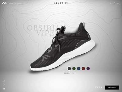 Color Switcher famous shoes ux ui animation interaction