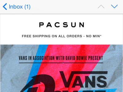 PACSUN - Vans Davie Bowie Creative