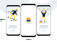 Handyman app onboarding illustrations
