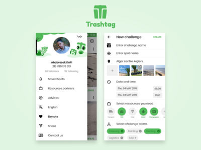 Trashtag challlenge app principle