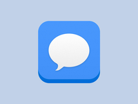 iMessage App icon on iOS 7 - Concept