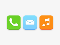 iOS 7 Stock Icons Concept