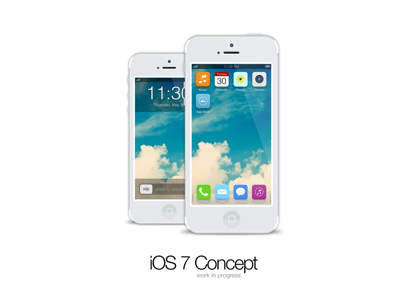 017 ios7 screenswip flat concept