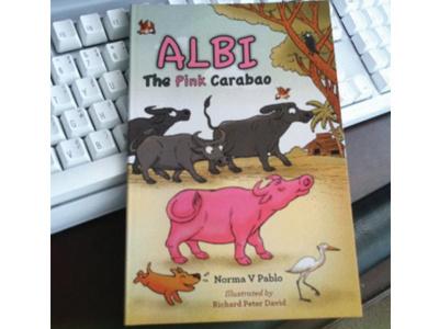 Albi The Pink Carabao carabao illustration