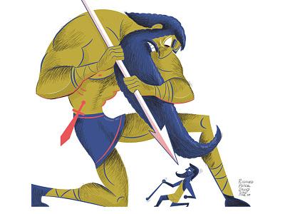 David Goliath Ecartoonman ecartoonman david  goliath illustration