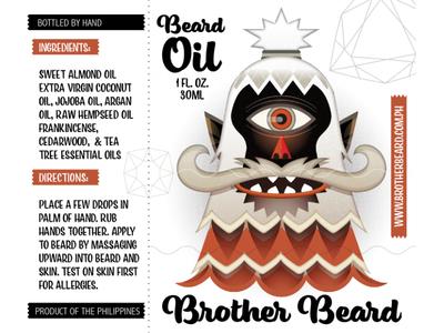 bearded warrior cyclops character design