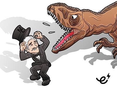 MC Mascot & Carcharodontosaurus affinity designer ecgfx ecartoongrafix mascot illustration carcharodontosaurus