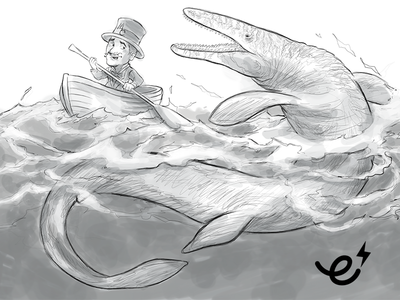 Mosasaurus sketch