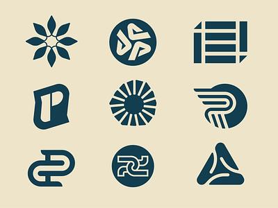 Icon Dump c p sun spark monogram identity graphic design design logo icon icons