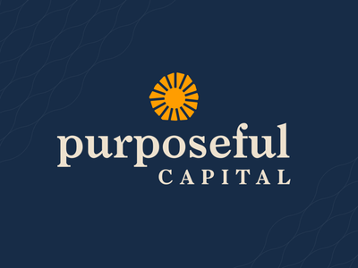 Purposeful Capital Logo Direction wordmark mark sun investment capital finance icon design color logo identity branding