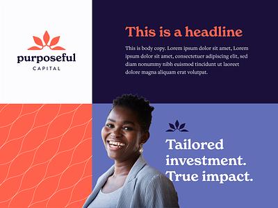 Purposeful Capital Branding Swatch brand logo graphic design capital identity design finance investment branding