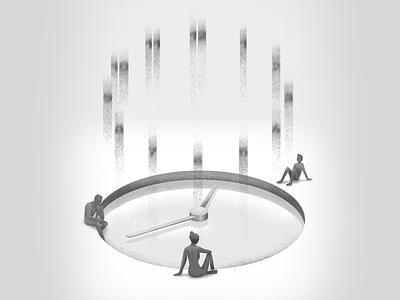 Evaporate digital illustration procreate evaporate reflecting reflecting pool pool time illustration