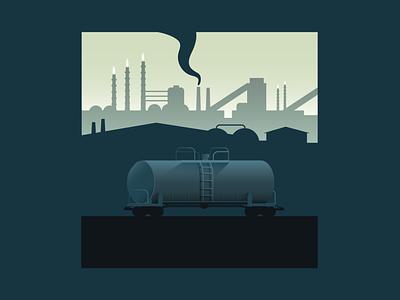Lonely Tanker trains train art vector digital illustration design digital illustration