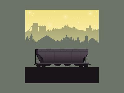 Lonely Hopper trains train vector art design digital illustration digital illustration