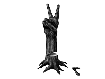 Peace tree axe art texture digital digital illustration design procreate illustration stippling war peace