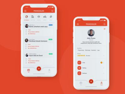 Panggilin App Design