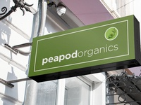 Storefront Street Sign, Peapod Organics by Design Vegan