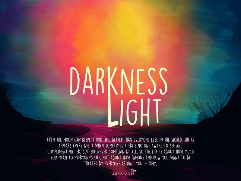 Darkness Light vector design illustration light darkness