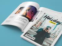 Holiday Magazine Indesign Template Rgbryand