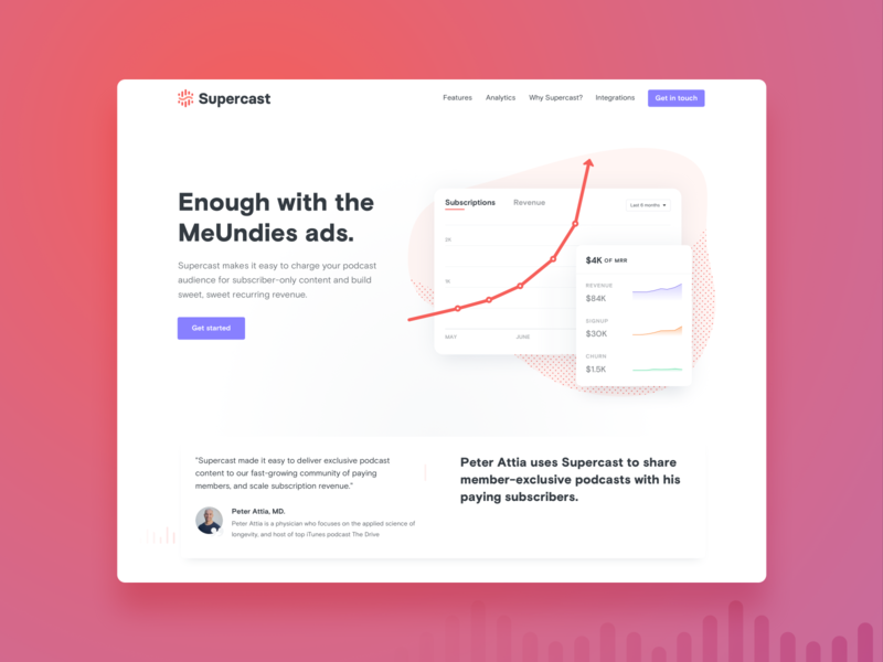 Supercast - Homepage modal z1 supercast podcasting podcast landingpage landing illustration homepage digital products growing design business branding brand analytics