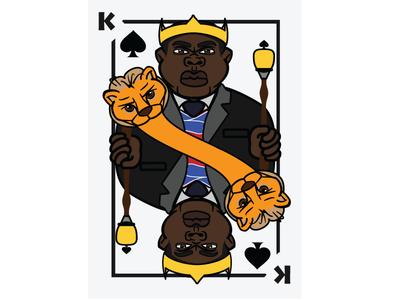 Themed Card deck sample: King of Spades v.1