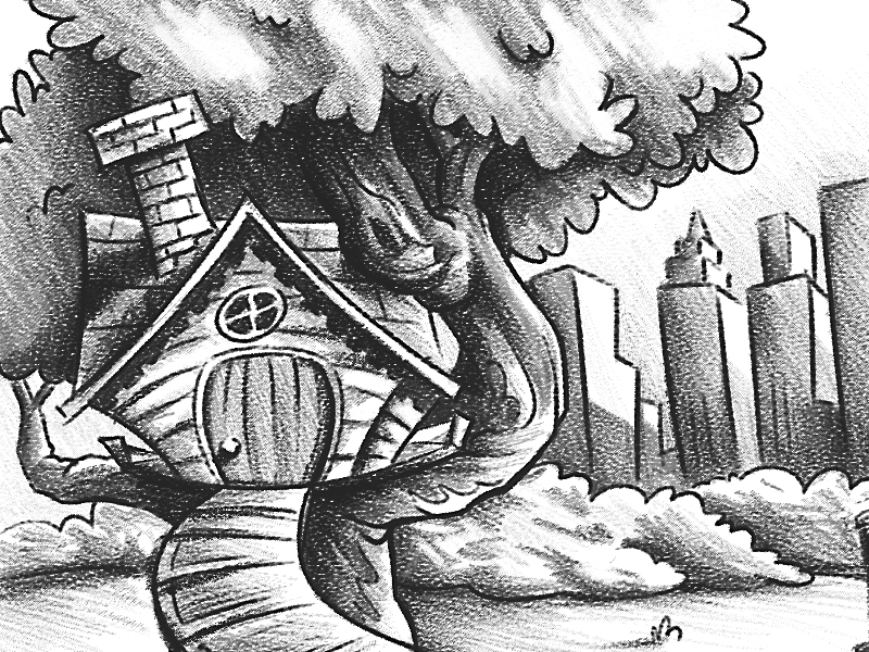 Treehouse Sketch sketch photoshop background black and white