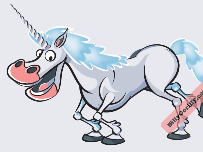 Billy Gorilly – Unicorn character design unicorn childrens art vector animation illustrator