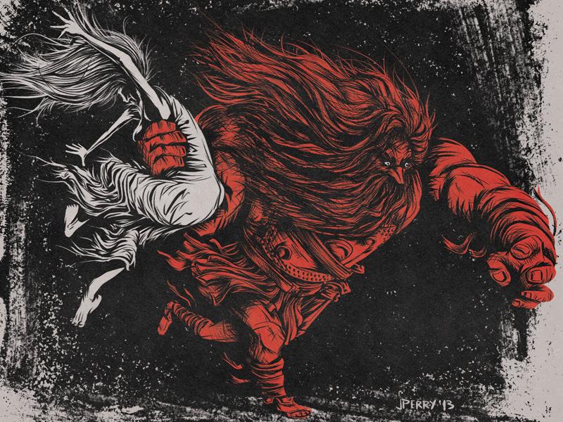 Rape of the Sabines illustration mythology history photoshop