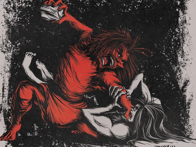 The Death of Remus illustration history mythology photoshop