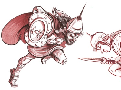 sketches - Salii Leaping Priests history ancient rome character design drawing illustration sketches