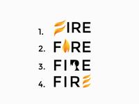Fire logo concept